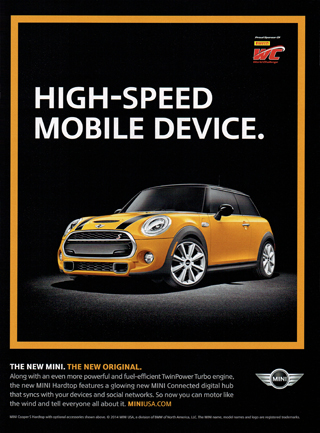 HIGH-SPEED MOBILE DEVICE print ad