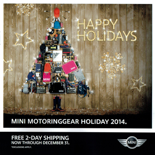 MINI MotoringGear Holiday 2014 catalog