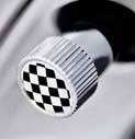 MINI valve stem cap (Checkered)