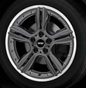5-Star Double Spoke Alloy Wheel Anthracite