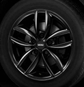 5-Star Spoke Alloy Wheel Black