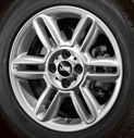 6-Star Spoke Alloy Wheel Silver
