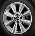 Conical Spoke Alloy Wheel Silver