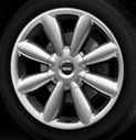 Turbo Fan Spoke Alloy Wheel Silver