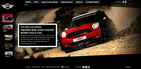 MINI Motorsport website