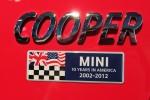 MINI 10 Years Anniversary rear badge