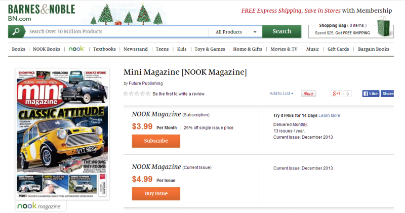 Barnes & Noble Mini Magazine for NOOK