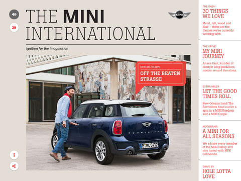 The MINI International app
