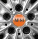 Hub Cap Bright Orange