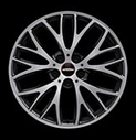 "18"" JCW Cross Spoke Burnished Jet Black"