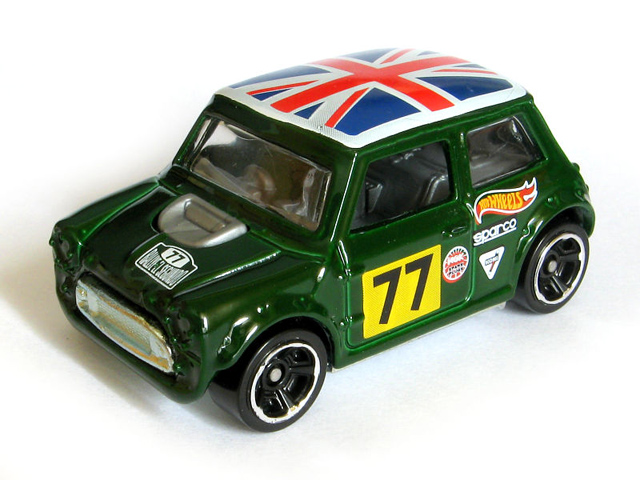 2014 Hot Wheels Morris Mini  (British Racing  Green)