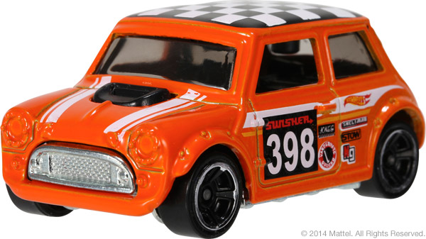 2015 Hot Wheels Morris Mini (orange)
