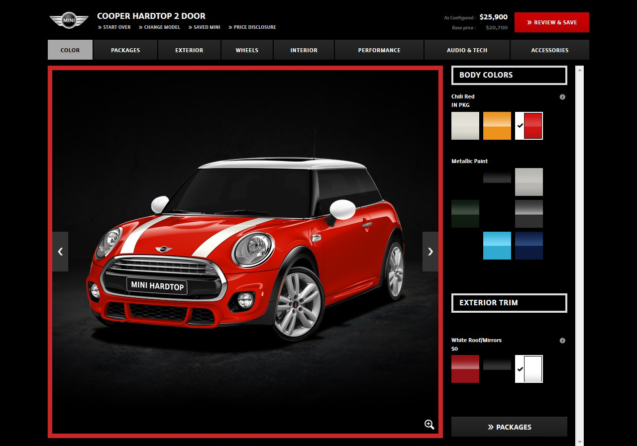 Mini Usa Configurator Updated With Jcw Exterior Package Library Of