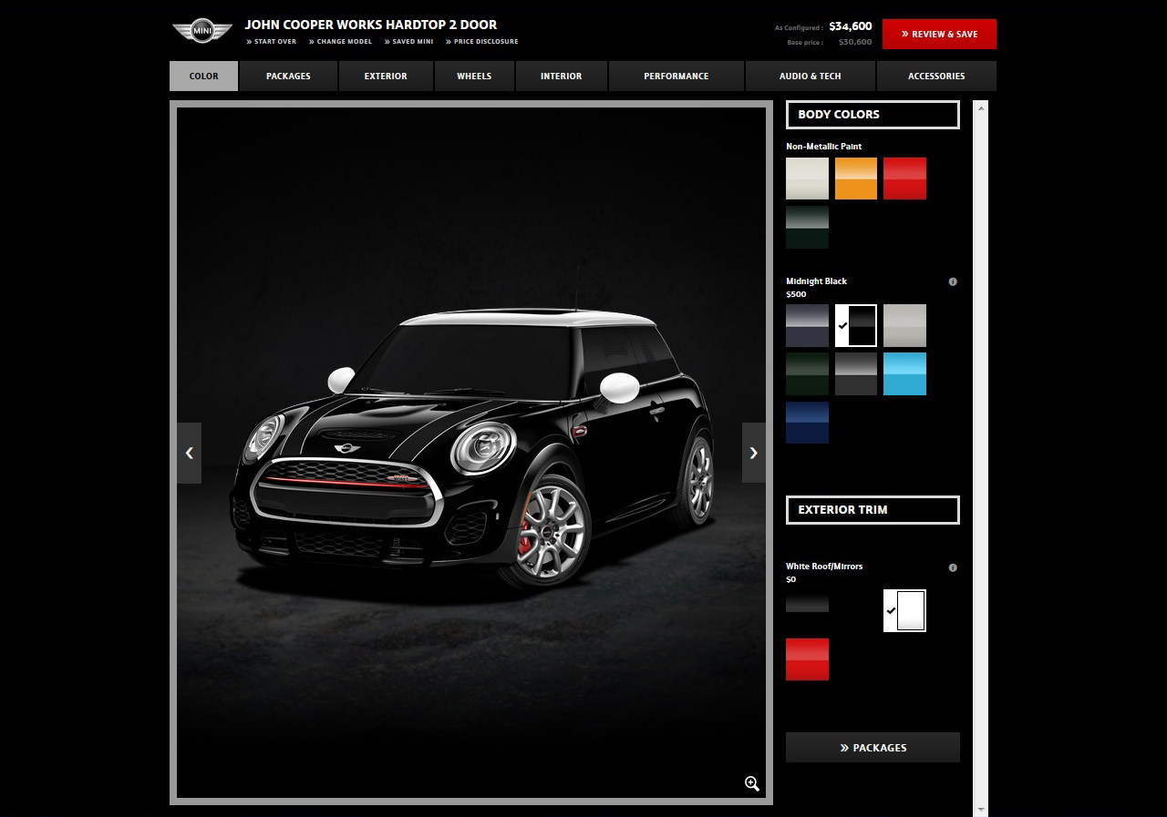 MINI USA Configurator: MINI JCW Hardtop 2 Door