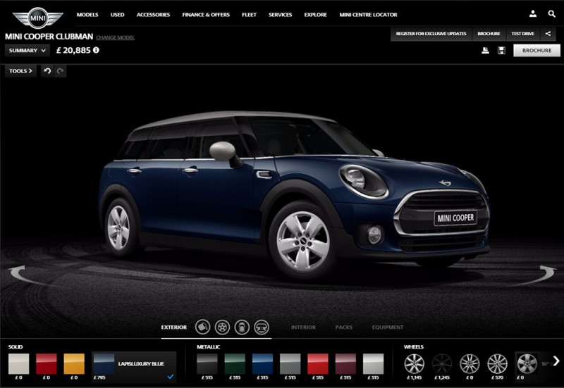 MINI UK Configurator MINI Clubman