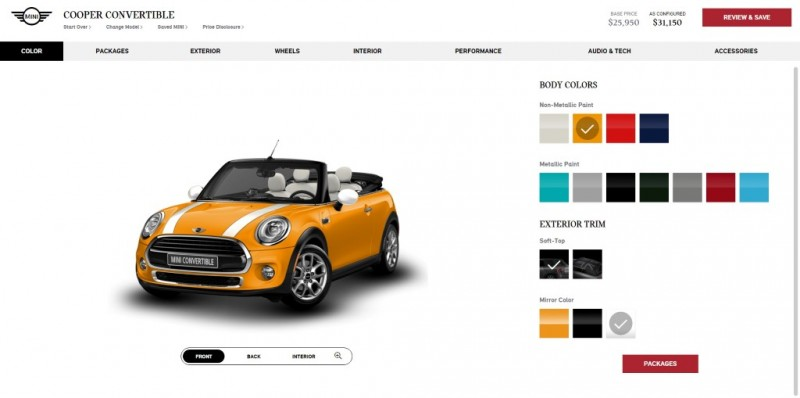 MINI USA Configurator 2016 - Convertible