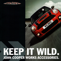 KEEP IT WILD. JOHN COOPER WORKS ACCESSORIES.
