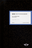 MINI MotoringGear Fall/Winter 2006 catalog