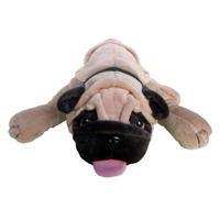 PLUSH LYING BULLDOG