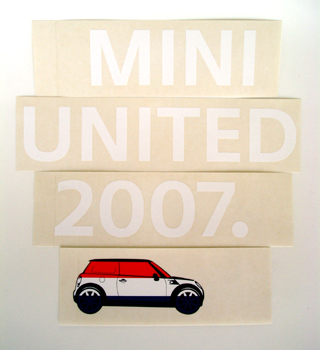 MINI United 2007 Starter Kit window stickers