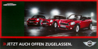 John Cooper Works Cabrio postcard (front)