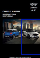 Owner's Manual (2013 Countryman / Paceman)