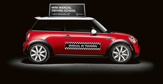 Manual Up - MINI Manual Driving School banner