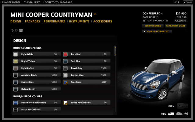 MINI USA configurator MINI Countryman