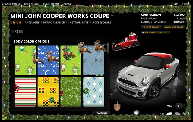 MINI USA Configurator 2011 (holidays)