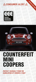 COUNTERFEIT MINI COOPERS brochure