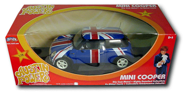 die cast Austin Powers MINI Cooper