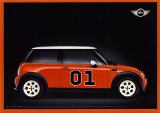 MINI USA THE DUKES OF HAZZARD MINI postcard