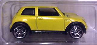 Hot Wheels 2011 yellow MINI