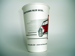 The Italian Job cup (front)