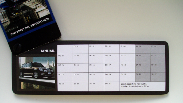 KEEP IT MINI. Clubman Kalender 2008 (Januar)