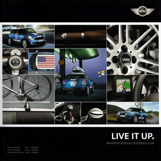 LIVE IT UP. MINI Motoring Accessories brochure