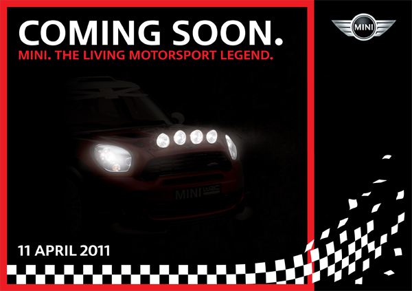 COMING SOON. MINI. THE LIVING MOTORSPORT LEGEND.