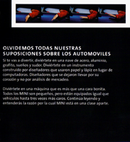 MINI models fold-out brochure in Spanish (2005) (inside)