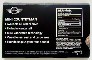 MINI Countryman chewing gum (back)