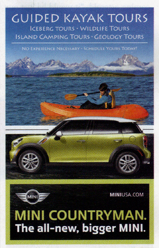 MINI Countryman ad in The New Yorker (page 27)