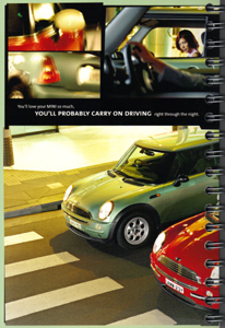 MINI ONE. MINI COOPER. brochure (2001) (page 14)