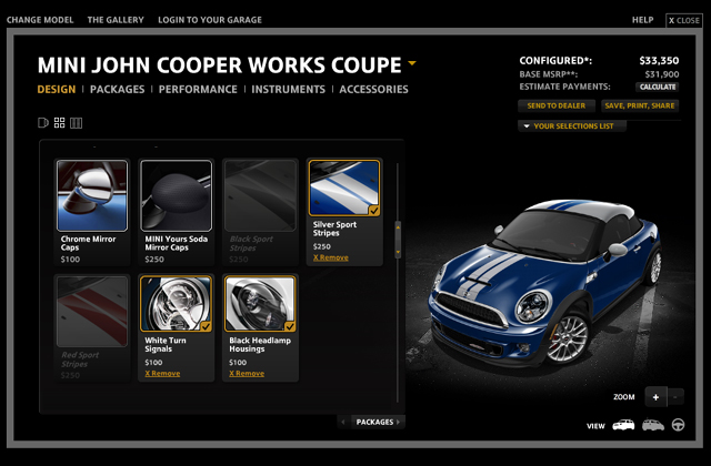 MINI Configurator 2012 MINI Coupe