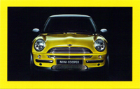 MINI USA Let's Motor card (Liquid Yellow)