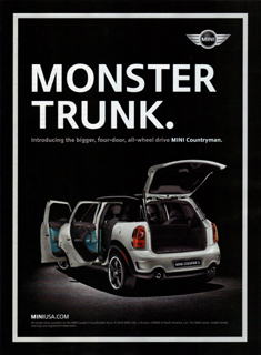 MINI Countryman print ad MONSTER TRUNK.