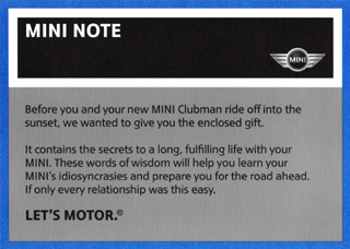MINI NOTE (Clubman)