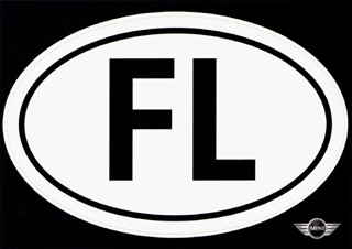 FL oval sticker
