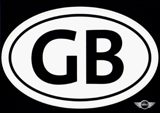GB oval sticker