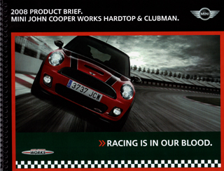 2008 Product Brief. MINI JCW models