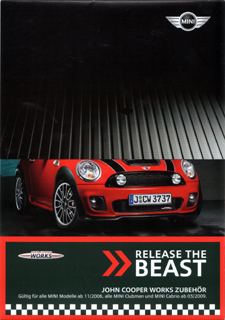 RELEASE THE BEAST JCW Accessories brochure