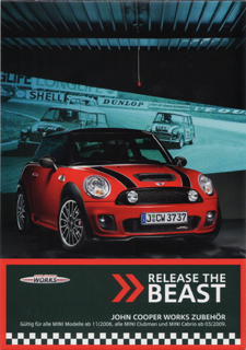RELEASE THE BEAST JCW Accessories brochure (open)